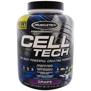 Мусклетек, Performance Series, CELL-TECH, The Most Powerful Creatine Formula, Grape, 6.04 lbs (2.74 kg) отзывы покупателей
