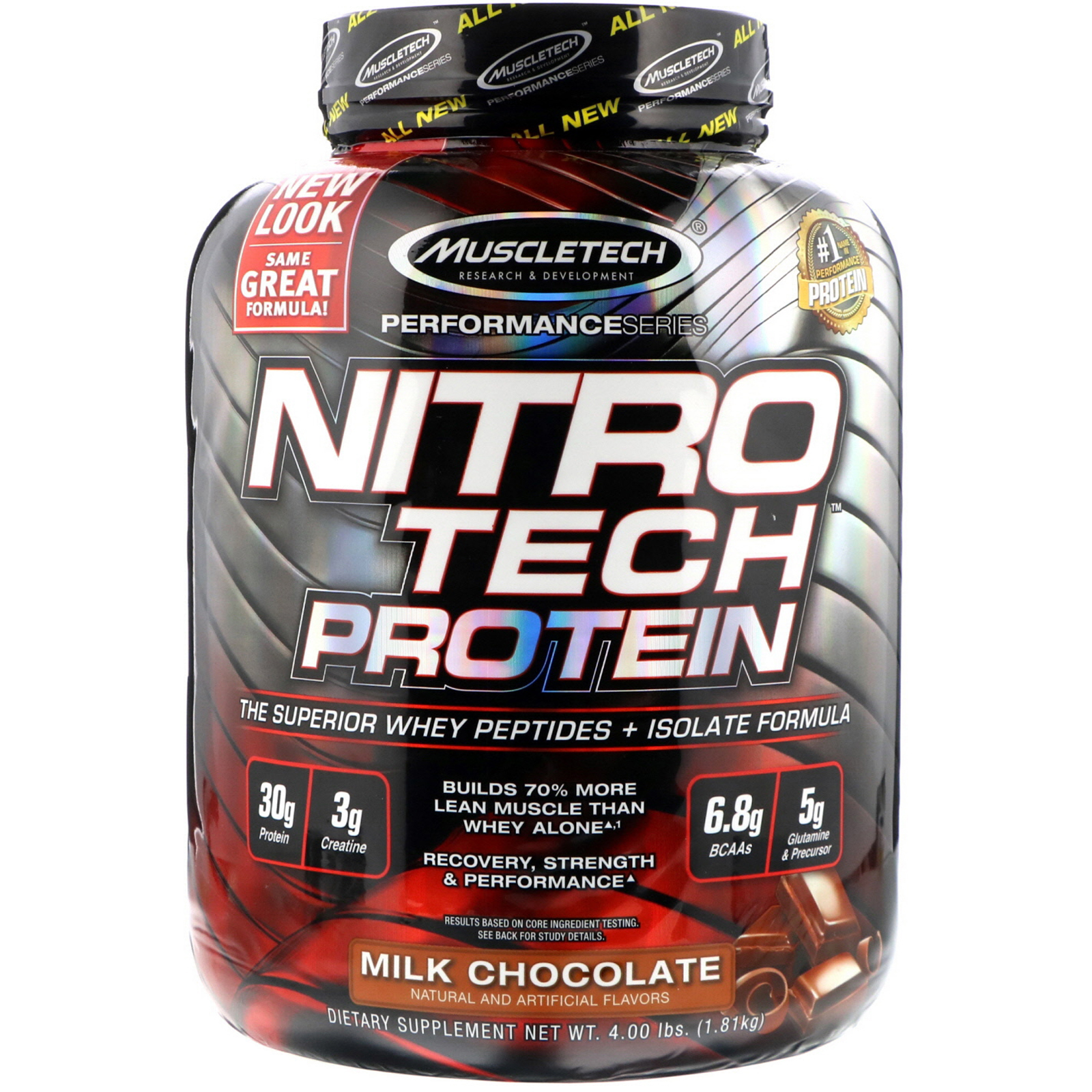 Muscletech Nitrotech Whey Peptides Isolate Primary Source Milk 4 Lbs Nitro Tech 4lbs Chocolate 400