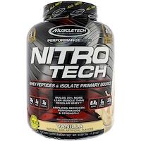 Nitro-Tech, Сывороточный изолят + наращивание мышечной массы, со вкусом ванили, 3,97 фунта (1,80 кг) - фото