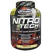 Muscletech, Nitro-Tech, Сывороточный изолят + наращивание мышечной массы, со вкусом ванили, 3,97 фунта (1,80 кг)