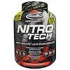 Muscletech, Nitro-Tech,Suero de Leche Aislado+Constructor de Musculo Magro, Fresa, 3.97 lbs (1.80 kg)