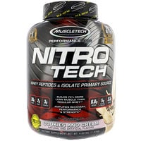 Nitro Tech, сывороточный изолят для наращивания сухой мышечной массы, со вкусом печенья с кремом, 3.97 фунта (1.8 кг) - фото