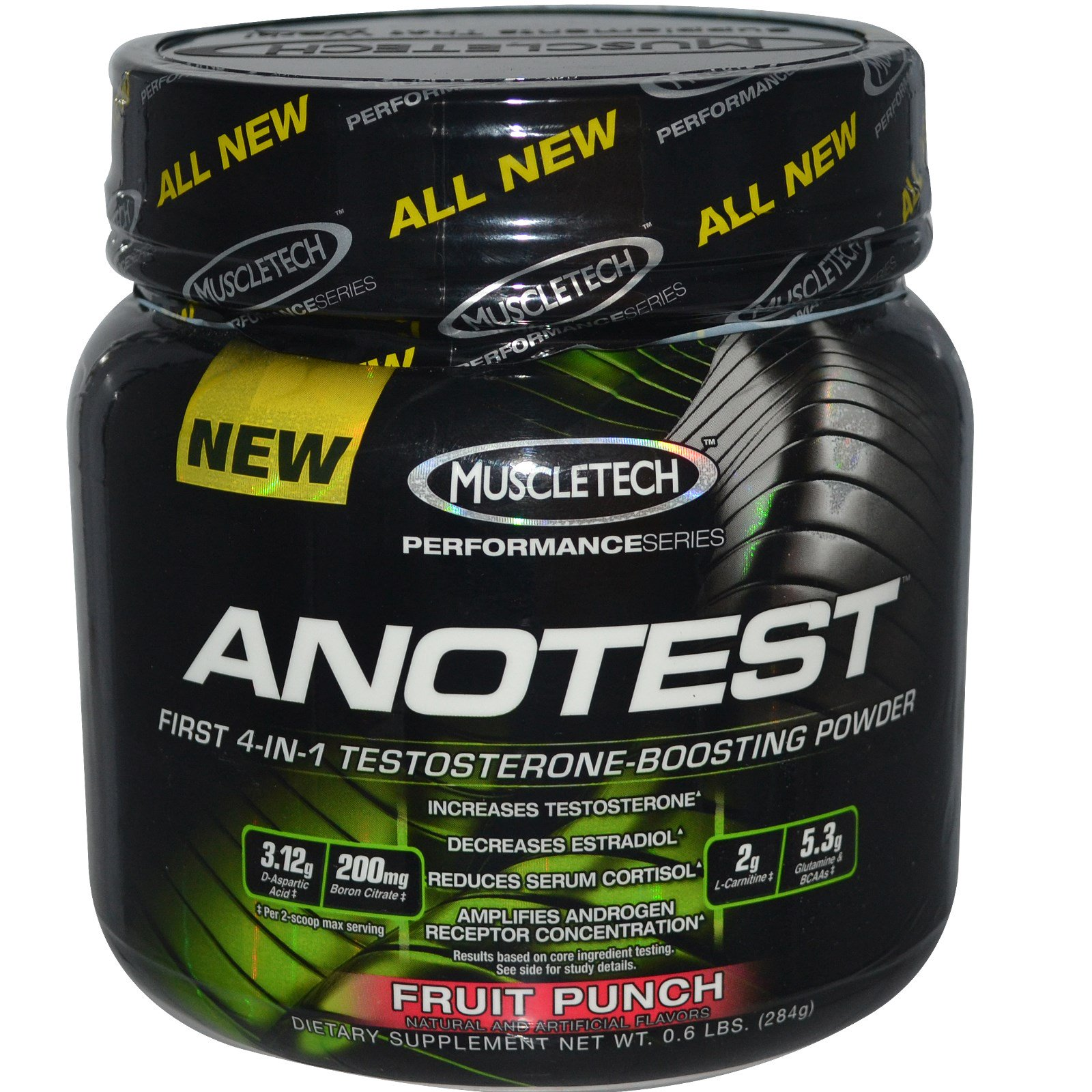 Muscletech, Anotest, Testosterone-Boosting Powder, Fruit Punch, 0 6 lbs  (284 g) (Discontinued Item)