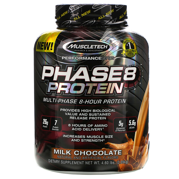 Performance Series, Phase8, Multi-Phase 8-Hour Protein, Milk Chocolate, 4 lbs (2.09 kg)