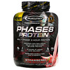 Muscletech, Performance Series, Phase8, proteínas multifase de 8 horas, frutilla, 2.09 kg