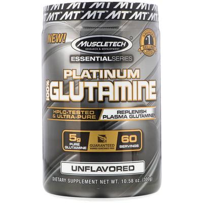 EssentialSeries, Platinum 100%, глютамин, без добавок, 5г, 300г (10,58унции) серьги альдзена pr 12016