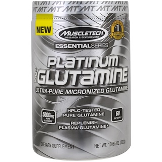 Muscletech, Platinum 100% Glutamine , 10.65 oz (302 g)