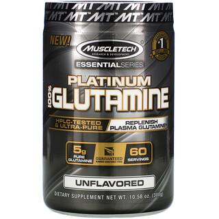 Muscletech, Essential Series, Platinum 100% Glutamine, Unflavored, 5 g, 10.58 oz (300 g)