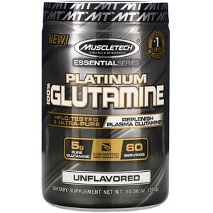 Мусклетек, Essential Series, Platinum 100% Glutamine, Unflavored, 5 g, 10.58 oz (300 g) отзывы покупателей