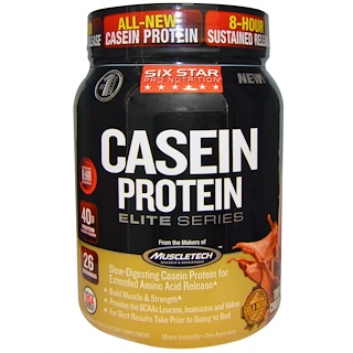 Six Star, Six Star Pro Nutrition, Casein Protein, Elite Series, Triple Chocolate, 2 lbs (907 g)