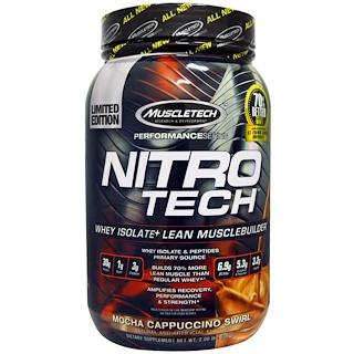 Muscletech, Nitro Tech  Whey Isolate + Lean Musclebuilder, Mocha Cappuccino Swirl, 2.00 lbs (907 g)