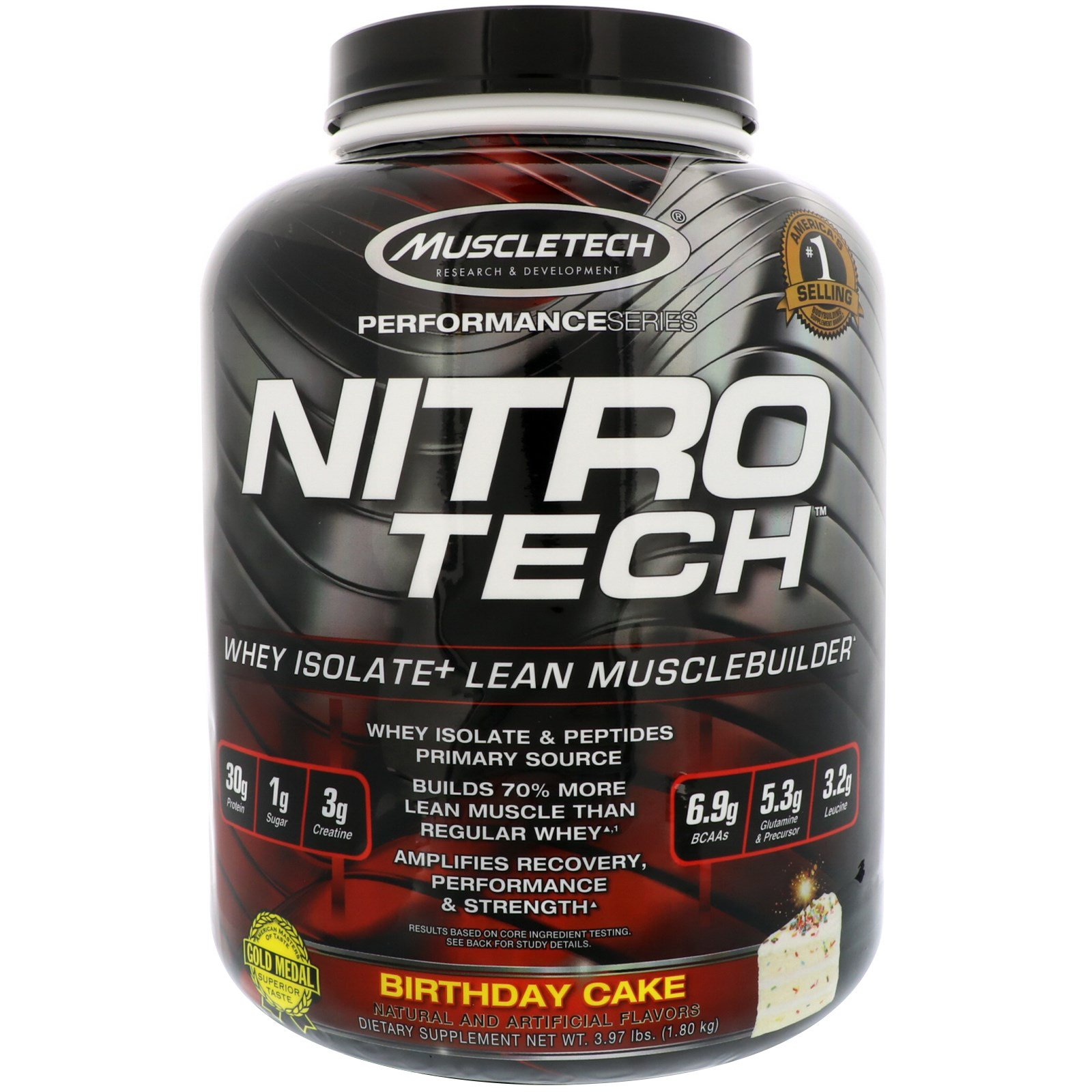 Muscletech Nitro Tech Whey Isolate Lean Musclebuilder Birthday Cake 397 Lbs