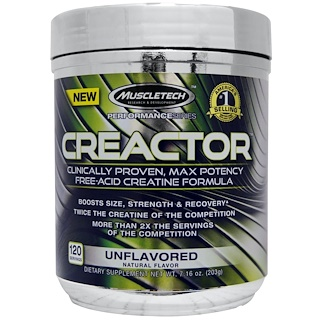 Muscletech, Creactor, Unflavoured, 7.16 oz (203 g)