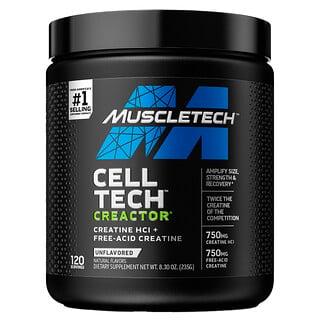 Muscletech, Performance Series, Creactor, креатин гидрохлорид, без ароматизаторов, 235г (8,30унции)