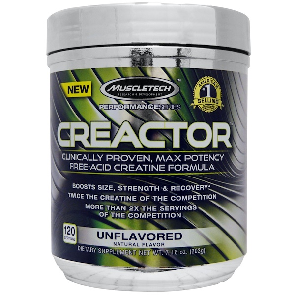 Muscletech, Creactor, Unflavoured, 7、16 oz (203 g)