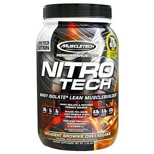Мусклетек, Nitro Tech, Whey Isolate + Lean Musclebuilder, Decadent Brownie Cheesecake, 2.00 lbs (907 g) отзывы
