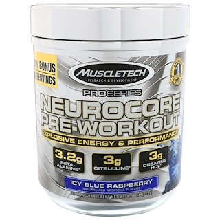 Muscletech, Pro Series, Neurocore Pre-Workout, Icy Blue Raspberry, 8.08 oz (229 g)