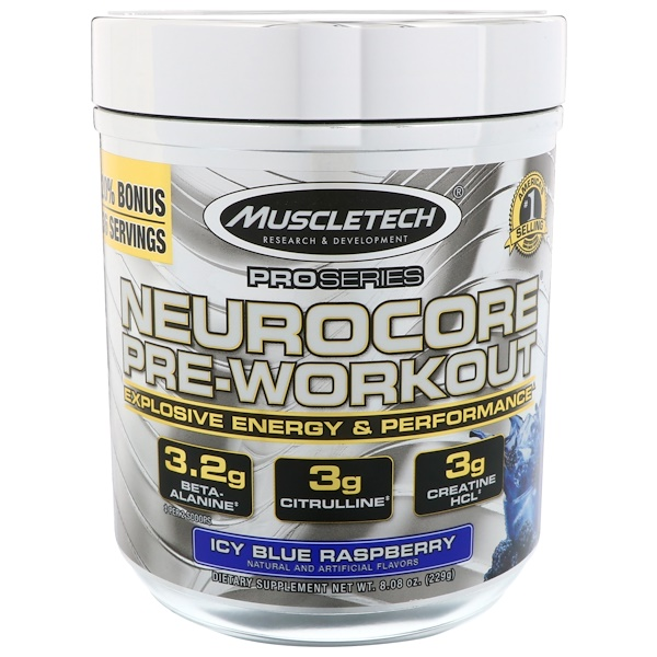 Muscletech, Pro Series, Nuerocore Pre-Workout, Icy Blue Raspberry, 8,08 унц. (229 г)