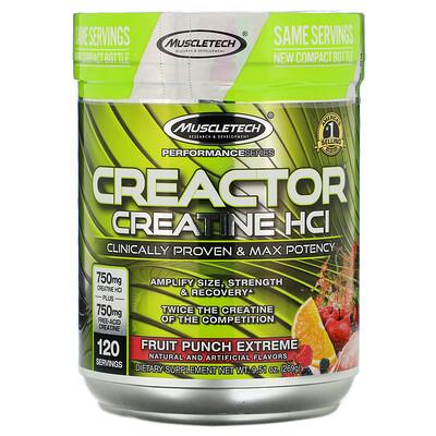 Фото - Creactor, формула гидрохлорида креатина, насыщенный фруктовый пунш, 269г (9,51унции) c4 до тренировки взрывная энергия фруктовый пунш 390 г 13 75 унц