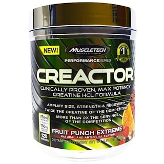 Muscletech, Creactor, Fruit Punch Extreme, 9.51 oz (269 g)
