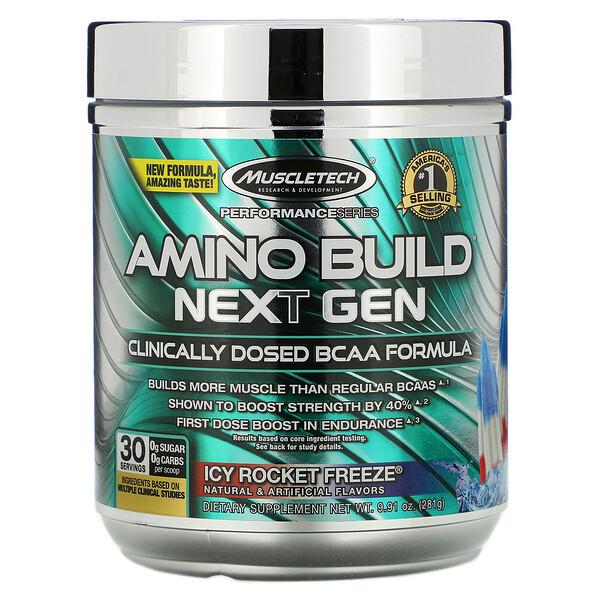 Amino Build(アミノビルド)ネクストジェン、アイシーロケットフリーズ、276g(9.73オンス)