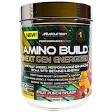 Отзывы о Muscletech, Amino Build Next Gen BCAA Formula With Betaine Energized, Fruit Punch Splash, 9.86 oz (280 g)