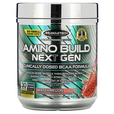 Фото - Amino Build Next Gen, аминокислоты нового поколения, арбуз, 281г (9,91унции) amino build next gen аминокислоты нового поколения для повышения энергии фруктовый пунш 284г 10 03унции