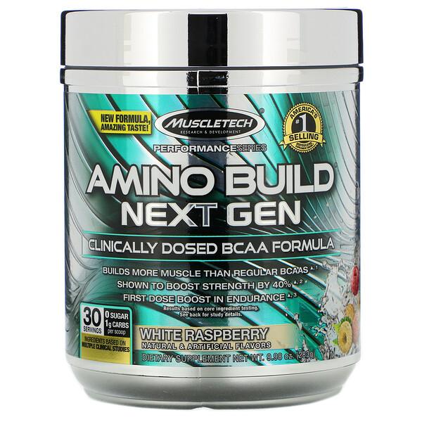 Amino Build® Next Gen 支鏈氨基酸,白樹莓味,9.98 盎司(283 克)