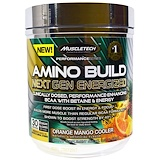 Отзывы о Muscletech, Amino Build Next Gen BCAA Formula With Betaine Energized, Orange Mango Cooler, 9.92 oz (281 g)