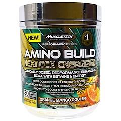 Muscletech, Amino Build Next Gen BCAA Formula With Betaine Energized, Orange Mango Cooler, 9.92 oz (281 g)