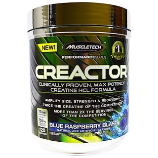 Muscletech, Creactor, Blue Raspberry Blast, 9.32 oz (264 g)