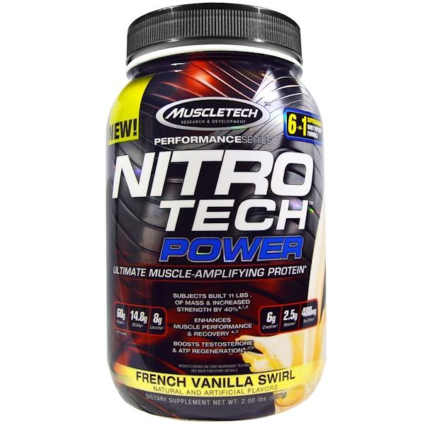 Muscletech, Nitro Tech Power, French Vanilla Swirl, 2 lbs (907 g) (Discontinued Item)