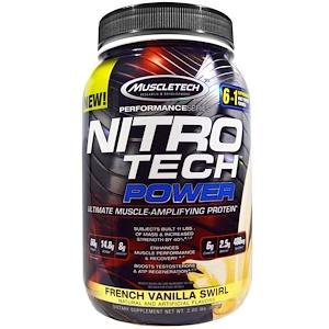 Мусклетек, Nitro Tech Power, French Vanilla Swirl, 2 lbs (907 g) отзывы покупателей
