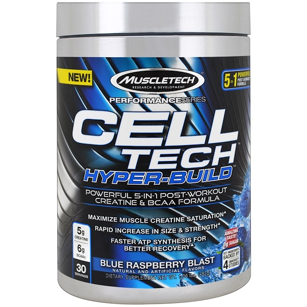 Cell Tech Hyper-Build, Blue Raspberry Blast, 1.06 lbs (482 g)