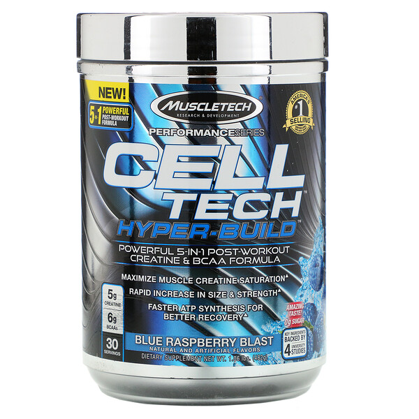 Performance Series, CELL-TECH HYPER-BUILD, Blue Raspberry Blast, 1.06 lbs (482 g)
