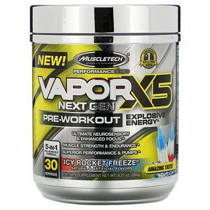 Мусклетек, VaporX5, Next Gen, Pre-Workout, Icy Rocket Freeze, 9.31 oz (264 g) отзывы покупателей