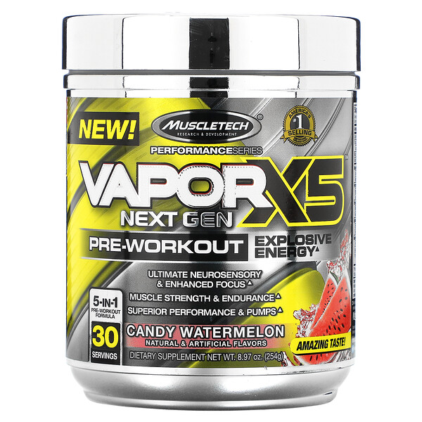 PerformanceSeries, Vapor X5 Next Gen, Pre-Workout, Candy Watermelon, 8.97 oz (254 g)