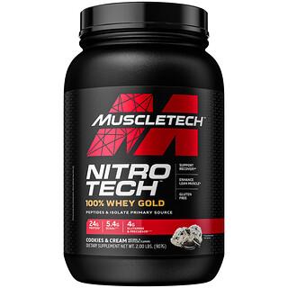 Muscletech, Nitro-Tech,全乳清黃金,曲奇和奶油,2.21 磅(1.00 千克)
