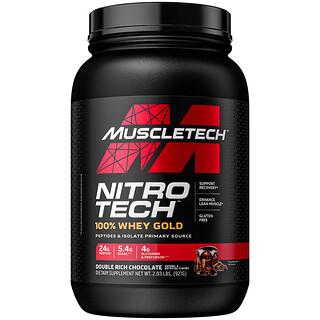 Muscletech, Nitro-Tech(ニトロテック)、100%ホエイゴールド、ダブルリッチチョコレート、1.02kg(2.24ポンド)