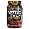 Muscletech, Nitro Tech(ニトロテック)、100%ホエイゴールド、ストロベリー、999g(2.2ポンド)