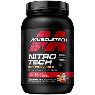 Muscletech, Nitro-Tech 全乳清黃金,草莓松餅,2.24 磅(1.02 千克)