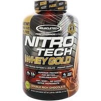 Nitro Tech, 100% Whey Gold, Whey Protein Powder, Double Rich Chocolate, 5.53 lbs (2.51 kg) - фото
