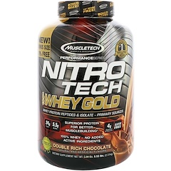 Muscletech, Nitro Tech, 100% Whey Gold, Double Rich Chocolate, 5.53 lbs (2.51 kg)