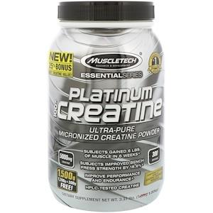 Мусклетек, Essential Series, Platinum 100% Micronized Creatine, Unflavored, 3.31 lbs (1.50 kg) отзывы