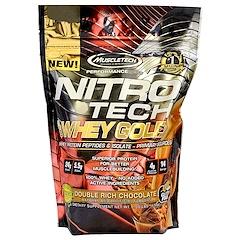 Muscletech, Nitro Tech 100% Whey Gold, Double Rich Chocolate, 1.00 lbs (454 g)