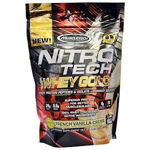Мусклетек, Nitro Tech Whey Gold, French Vanilla Creme, 1.00 lbs (454 g) отзывы