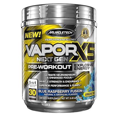 Купить VaporX5, Next Gen, Pre-Workout, Blue Raspberry Fusion, 9.40 oz (266 g)