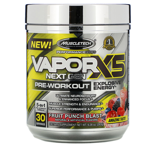VaporX5, Next Gen, Pre-Workout, Fruit Punch Blast, 9.28 oz (263 g)