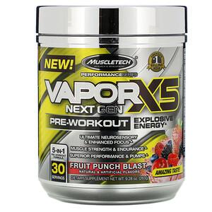 Мусклетек, VaporX5, Next Gen, Pre-Workout, Fruit Punch Blast, 9.28 oz (263 g) отзывы