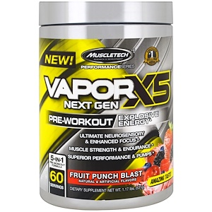 Мусклетек, Peformance Series, VaporX5 Net Gen, Fruit Punch Blast, 1.17 lbs (531 g) отзывы